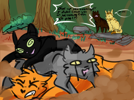 Training with Lionheart and Tigerclaw by Sno-wy
