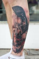 leonidas tattoo by graynd