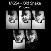 MGS4 - Old Snake Progress by BorisKoci