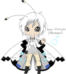 Shiny Vivillon Monsoon Gijinka Chibi - Skyrent by Maipee-Chan