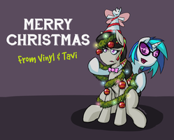 Vinyl and Tavi's Christmas Message by RomanRazor