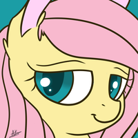 Fluttershy Poster Icon by TheZealotNightmare