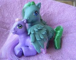 MLP Custom Medley and Wysteria by colorscapesart