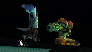 Falco surrenders to Samus by SmashBros2008