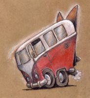 Surfing with the Red Bus by jwize