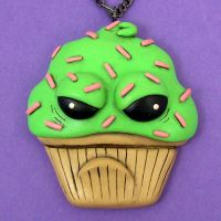 Sour Cupcake Necklace by beatblack