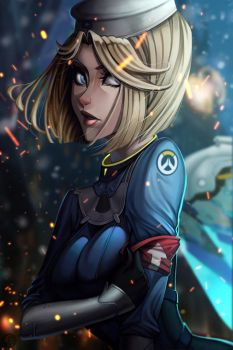 Combat Medic Ziegler Mercy by JELLYEMILY