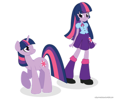Equestria Girls - Twilight Sparkle by robynneski