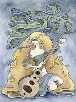 Sitar Woman by lilspoon