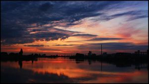Bremen Harbor Sunset 9 by mar1anm