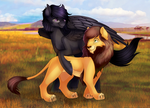 Nightsky and Scar by LimreiArt