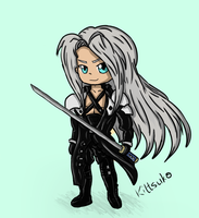 Chibi Sephiroth (Final Fantasy) by Kittsuko