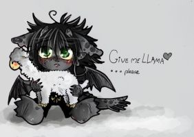 give llama to antro Toothless by J-C-P