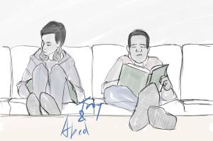 2012-01-03 Troy and Abed on the couch by agates-link