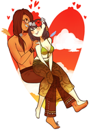 Lovebirds by MaryLittleRose