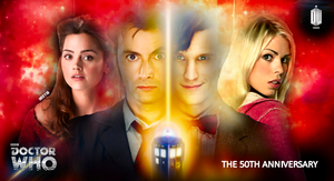 Doctor Who 50th Poster by MrRy4n