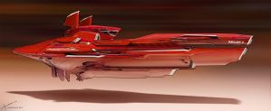 Racer ship - Red by Long-Pham