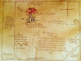 Thror's Map - The map to the Lonely Mountain by TwoWolvesKM