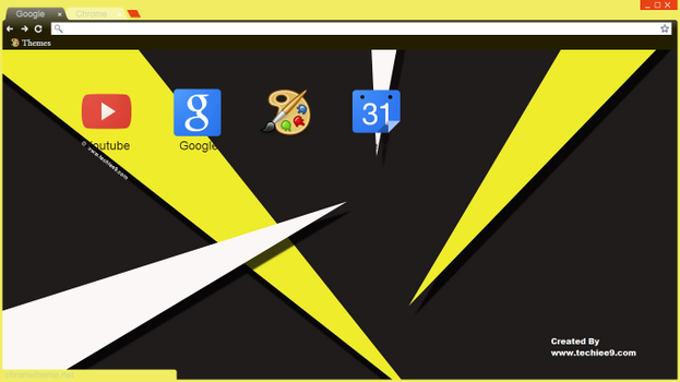 Edge 1.0 (yellow) chrome theme by Techiee9