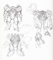 robot sketches by KeanKennedy
