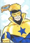 Booster Goild commission sketch card by chicagogeekdad