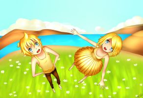 Len and Rin by emiloli