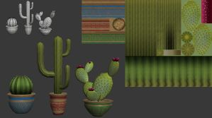 Low Poly Cacti by xaldan