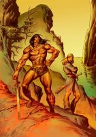 CONAN AND VALERIA-color 2nd by benitogallego