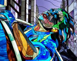 Joker in euphoria . Photos stained glass pictures by Art-Brother