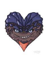 Mass Effect 2 Grunt Valentine card by Agregor