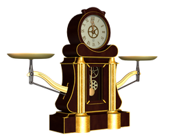 Steampunk Clock 02 PNG Stock by Roys-Art