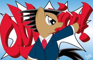 MLP : phoenix wright by avellante