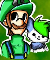 Luigi and Nin by Shower-kun