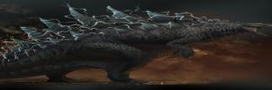 Godzilla-Concept Sketches by arvalis