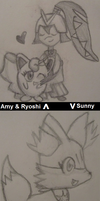 Amy and Ryoshi + Sunny by PlatyGalK