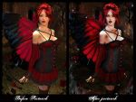 Before - After Valentine Fairy by SkellyKat