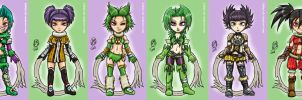 Chibi Tira Set by Lukael-Art