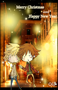 KH: Merry X-mas and New Year by sleepingcloud11