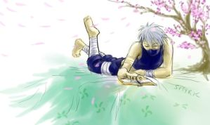 Peacefully Reading Kakashi by Smyrker