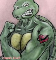 TMNT Raph Loves The Lizard by theblindalley