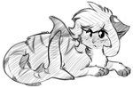 Sketchy Fins -Commish- by Spottedfire-cat