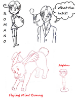 Hetalia Scribbles by Obsessiongonewrong