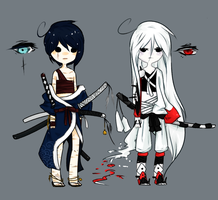Tate and Bel (+ short bios!) by CherriSummer