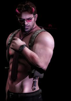 Are you ready? (Chris Redfield) by kingofshadows26