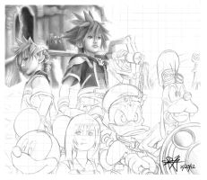 KH2 WIP PART 2 by watermeloons
