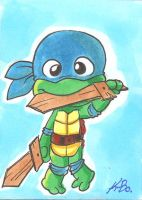 TMNT Baby Leonardo Art Card by kevinbolk