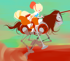 Anna on a Horse Thing by Clairvoire