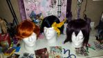 3 wigs ready for Oni-con 2015 by yamihp7
