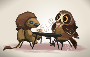 Owl Tea by DawnFrost