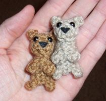 Tiny Crochet Teddy Bears by happysquidmuffin